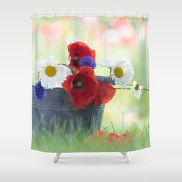 Poppies Symphonies Shower Curtain