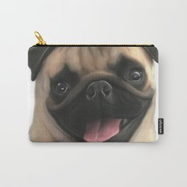 Happy Pug Puppy Carry-All Pouch