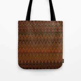Autumn Chevrons Tote Bag