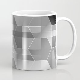 HexiPlaid Silver Coffee Mug