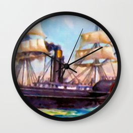 Auxiliary Steamship Wall Clock