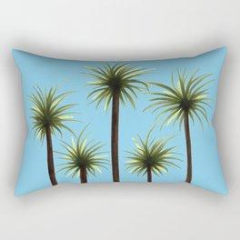 Palm Trees, Blue Sky Rectangular Pillow