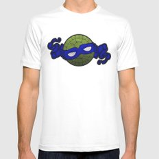 the blue turtle Mens Fitted Tee MEDIUM White