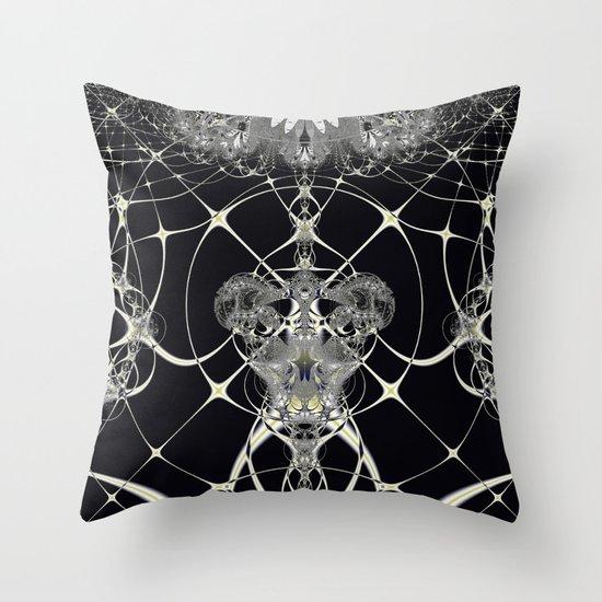 Golden Web Throw Pillow