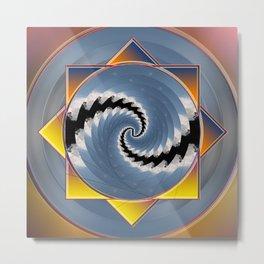 Cyclone Cloud Mandala Metal Print