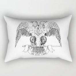 Two-headed eagle as Masonic symbol Rectangular Pillow