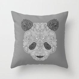 Paisley Panda Throw Pillow