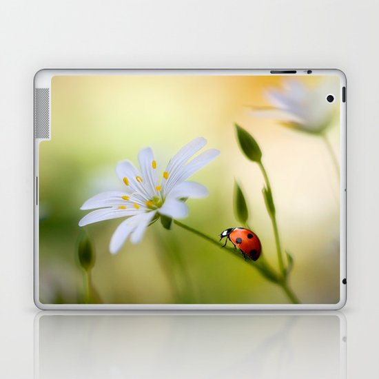 Stitchwort lady Laptop & iPad Skin