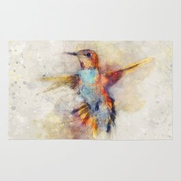 Hummingbird art series Rug