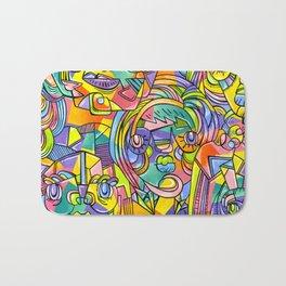 Colourful Faces Bath Mat