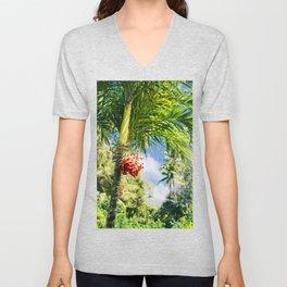 Keanae Palm Beauty Unisex V-Neck