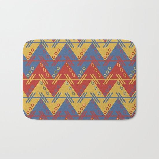 Tribal Zigzag Line Pattern Bath Mat