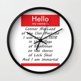 Hello, My name is... Wall Clock