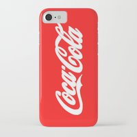 coca cola iPhone & iPod Cases featuring Coca-Cola by Rebekhaart