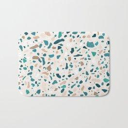 Terrazzo Turquoise Pattern Bath Mat