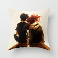 viria Throw Pillows featuring hey brother by viria