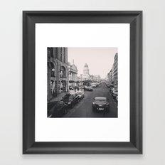retro car Framed Art Print