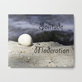 Solitude in Moderation Metal Print