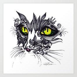 Intense Cat Art Print