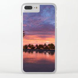 Perfect Sunset Clear iPhone Case