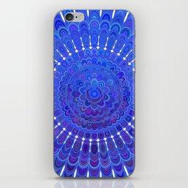Blue Floral Mandala iPhone Skin