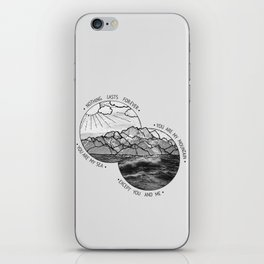mountains-biffy clyro iPhone Skin