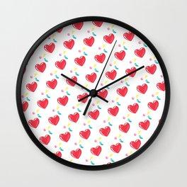 heart hearts Wall Clock