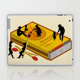 Matchbox Wildwest Campfire Laptop & iPad Skin