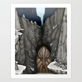 The White Dragon Lair Art Print