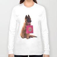 birthday Long Sleeve T-shirts featuring Birthday dog by AvHeertum