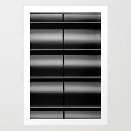 Metal Washboard Black and White Print Art Print