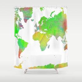 World Map 7 Shower Curtain