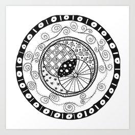 Circle Doodle Art Print