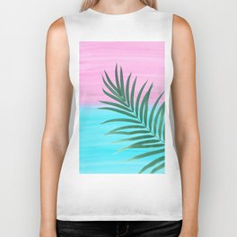 Dreamy Ocean View #1 #palm #pink #aqua #decor #art #society6 Biker Tank