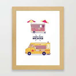 Street Food x NYC Style Framed Art Print