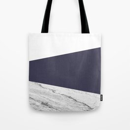 Marble Eclipse blue Geometry Tote Bag