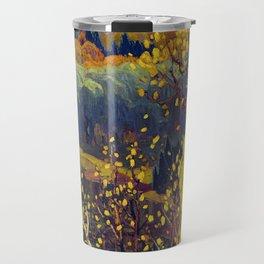 Franklin Carmichael Canadian artist Art Nouveau Post-Impressionism October Gold Travel Mug