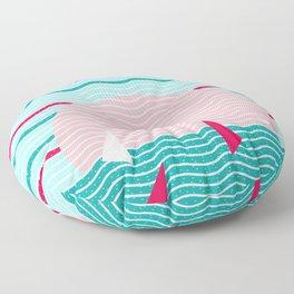 Hello Ocean Pink Sails Floor Pillow
