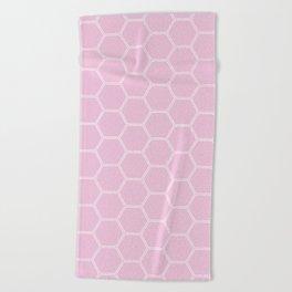 Honeycomb - Light Pink #326 Beach Towel