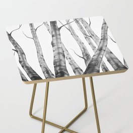 Birch Tree | Watercolour | Painting | Black And White | Black And White