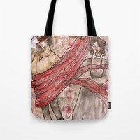 jane eyre Tote Bags featuring Jane Eyre. An Autobiography  by Sarah Mary Street