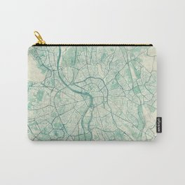 Toulouse Map Blue Vintage Carry-All Pouch
