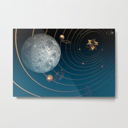 Fractal Universe Metal Print