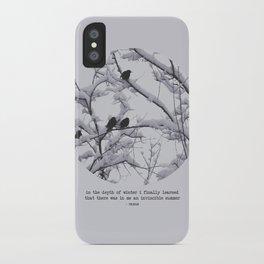 depth of winter iPhone Case