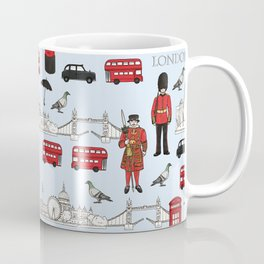 London Skyline and Icons Coffee Mug