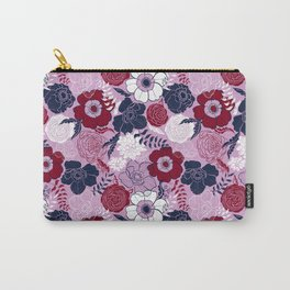 navy blue anemones Carry-All Pouch