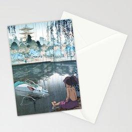 Haku and Chihiro woodblock mashup Stationery Cards