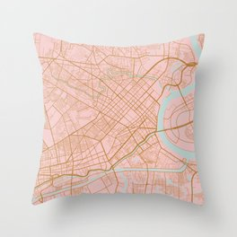 Ho Chi Minh map, Vietnam Throw Pillow