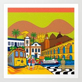 Rio de Janeiro in the past Art Print