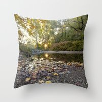 indiana Throw Pillows featuring indiana fall by Bonnie Jakobsen-Martin
